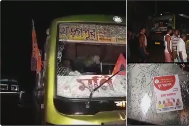 BREAKING NEWS : कोलकाता में अमित शाह की रैली पर हुआ हमला.