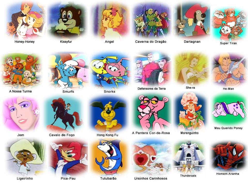 Nomes De Personagens De Desenhos