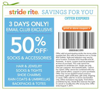 image about Stride Rite Printable Coupon called Stride Ceremony Printable Discount coupons Might 2018 Printable Coupon