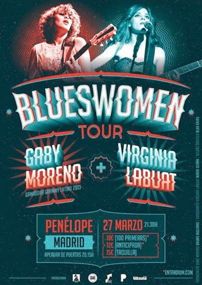 Gaby Moreno + Virginia Labuat = BluesWoman Tour