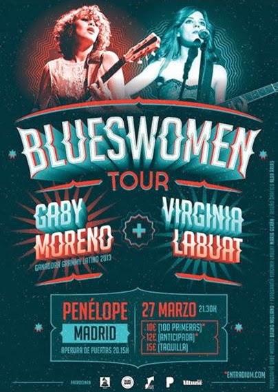 Gaby Moreno + Virginia Labuat = BluesWoman Tour