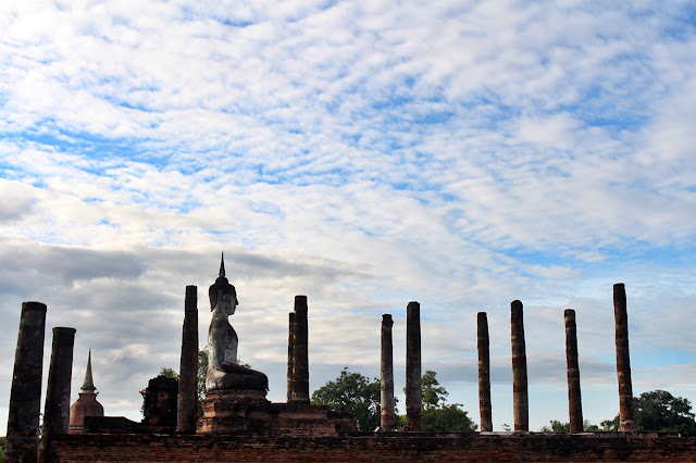 Levy Amosin in Ancient City of Sukhothai