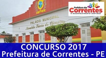 Concurso Prefeitura de Correntes 2017