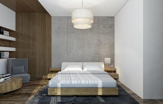 Fotos de habitaciones con paredes decoradas dormitorios for Habitacion madera