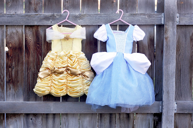 DIY Belle & Cinderella Princess Costumes
