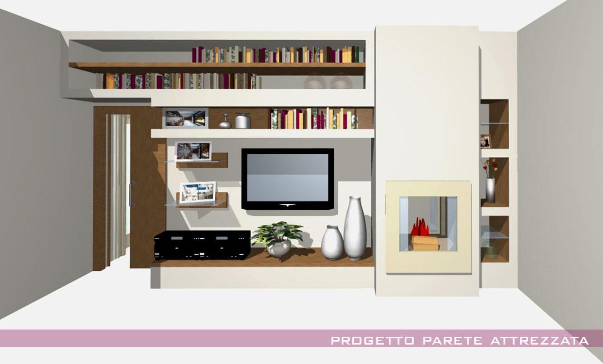 Pareti attrezzate in cartongesso immagini for Immagini pareti attrezzate in cartongesso