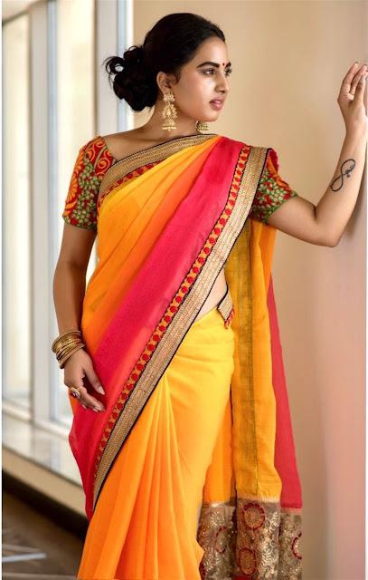 Srushti Dange Beautiful Saree Picture