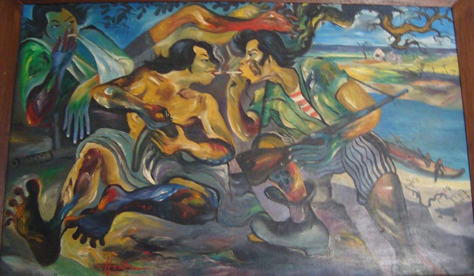 Seni lukis Indonesia Contoh hasil karya beberapa pelukis