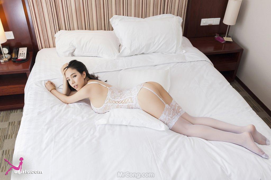 Image MrCong.com-UGIRLS-035-Ni-Xiao-Yao-006 in post Mê mẩn ngắm vòng một nở nang của người đẹp Ni Xiao Yao (妮小妖) trong bộ ảnh UGIRLS 035