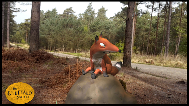 Finding the fox on the Gruffalo Spotter trail