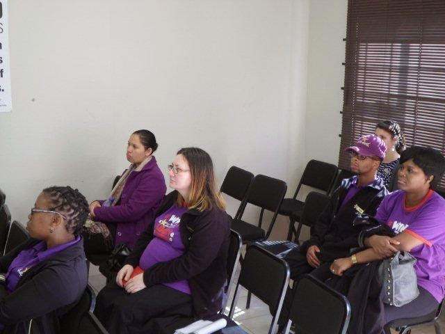 The Hollywoodbets Parliament Street team receiving a presentation from the Zanethemba Charity Foundation (PE)