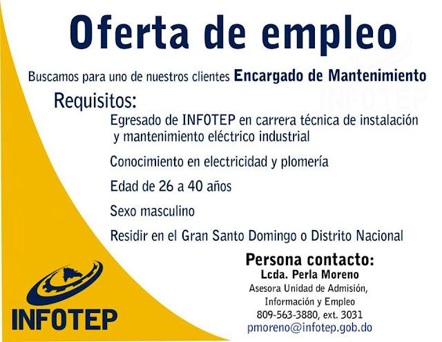 Oferta de empleo como encargado de mantenimiento ayuda - Oferta de trabajo ...