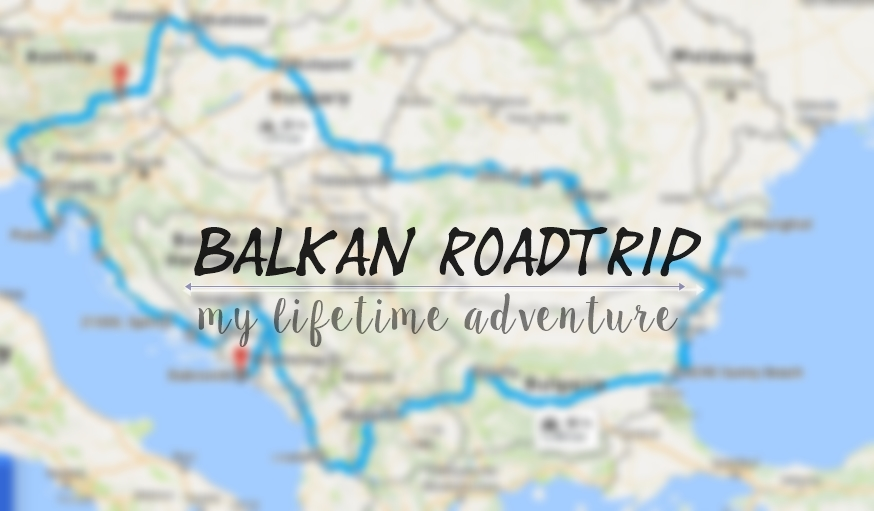 Balkans travel map
