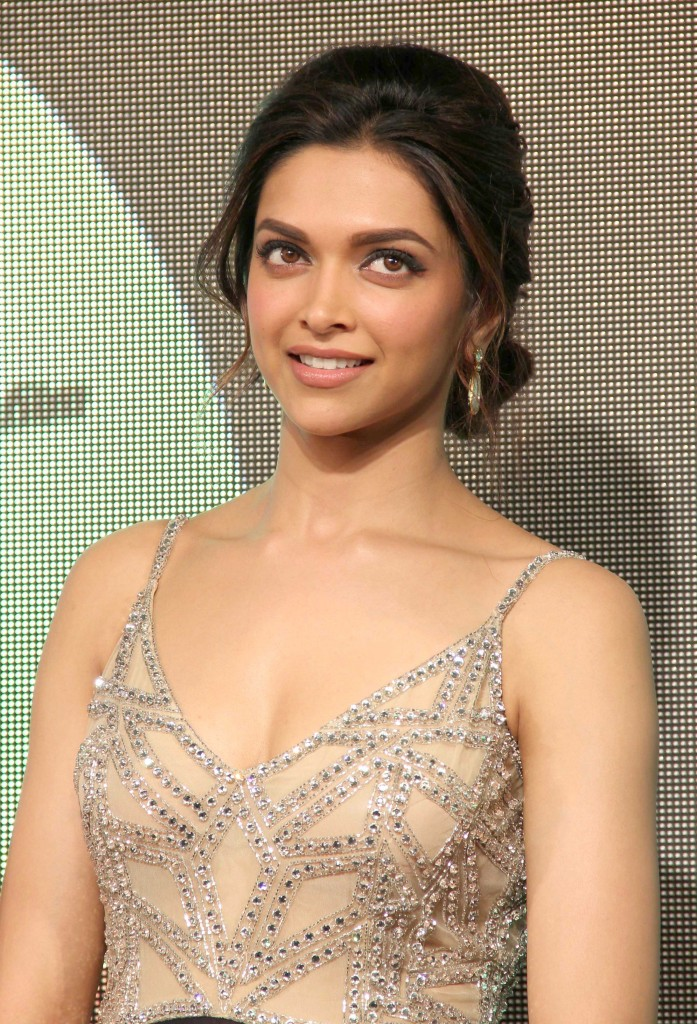 Actress Deepika Padukone At Movie Audio Launch In Sizzling White Dress