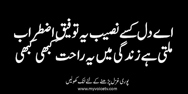 #UrduShairi - Hoti hai tere name say wahshat kabhi kabhi...
