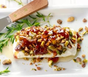 Goat Cheese With Fig Pistachios