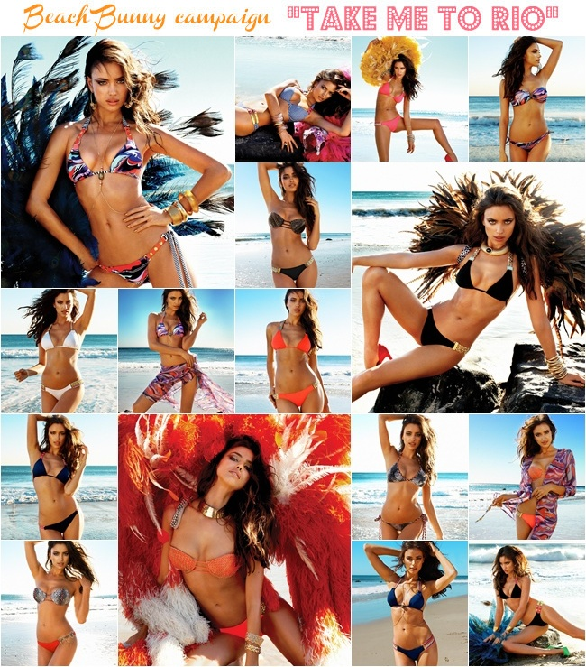 Irina Shayk for Beach Bunny swimwear campaign Take me to Rio
