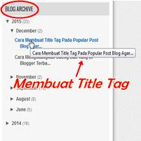 Cara Membuat Title Tag Pada Blog Archive Agar SEO