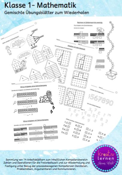 Drachenstübchen: Mathe Klasse 1 - Arbeitsblätter