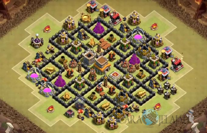 Base War TH 8 di Clash Of Clans Terbaru 2017 Tipe 9