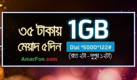Grameenphone 1 GB Internet Night Data Pack 35 Taka Offer