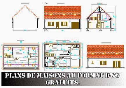 plans de maisons au format dwg gratuits free dwg journal3. Black Bedroom Furniture Sets. Home Design Ideas