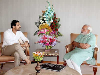 John Abraham meets the Narendra Modi today at capital office