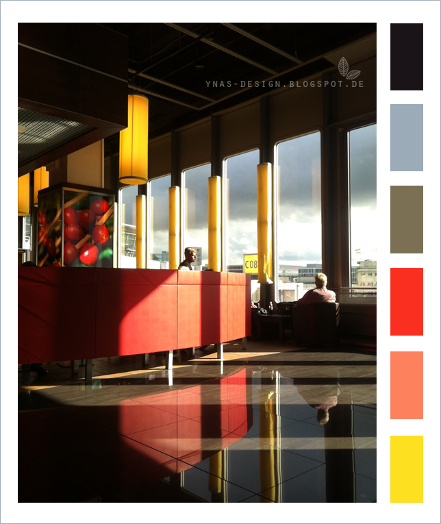 Ynas Design Blog | Flughafen Düsseldorf | Colorcode