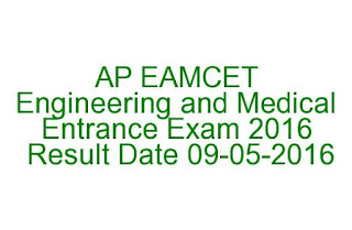 AP EAMCET  Engineering and Medical  Entrance Exam 2016  Result Date 09-05-2016