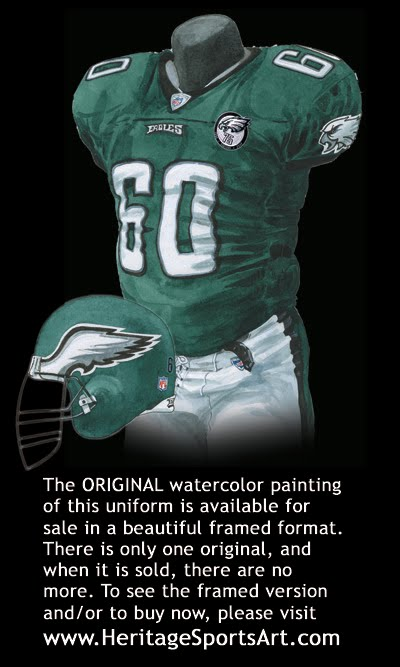 best website cda3d 0f79b Philadelphia Eagles Uniform and Team History | Heritage ...