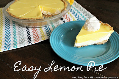 Easy Lemon Pie - sweet and zesty, simple to make, and perfect for spring and Easter