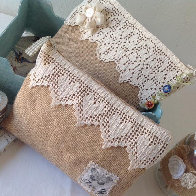 Decosurvintage carteras de arpillera - Bolsos de tela hechos en casa ...