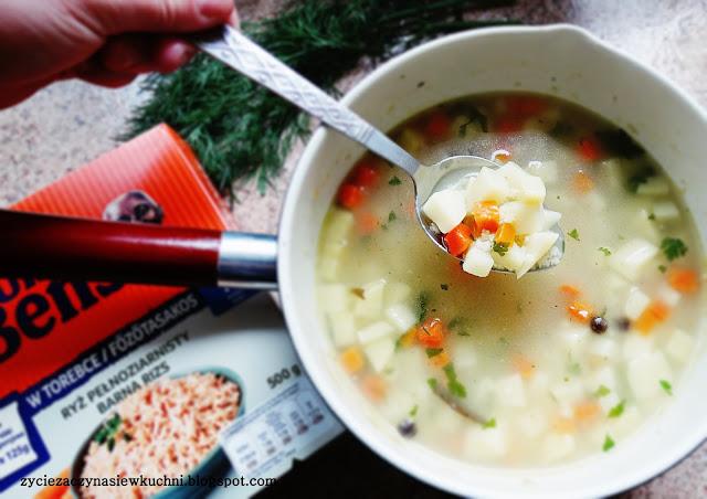 Krupnik warzywny z ryżem