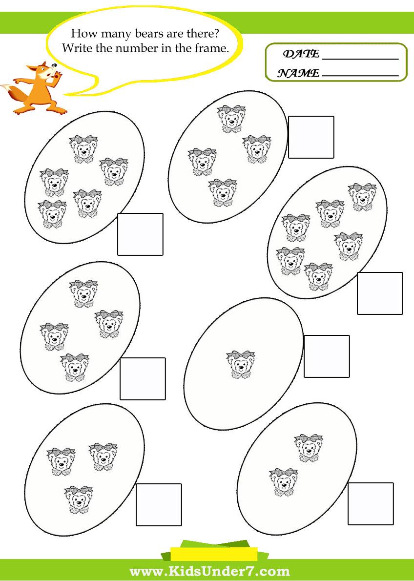 - Kids Under 7: Kids Math Worksheets