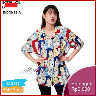 NAG119 Bl 3c1 90138 Baju Blouse Atasan Xxl Jumbo Bmgshop