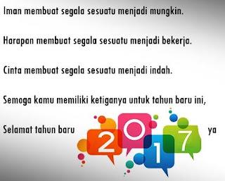 Kumpulan Kata Kata Mutiara Ucapan Tahun Baru 2017