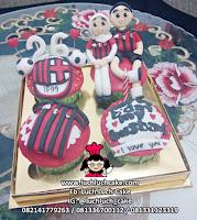 Cupcake Ulang Tahun AC Milan