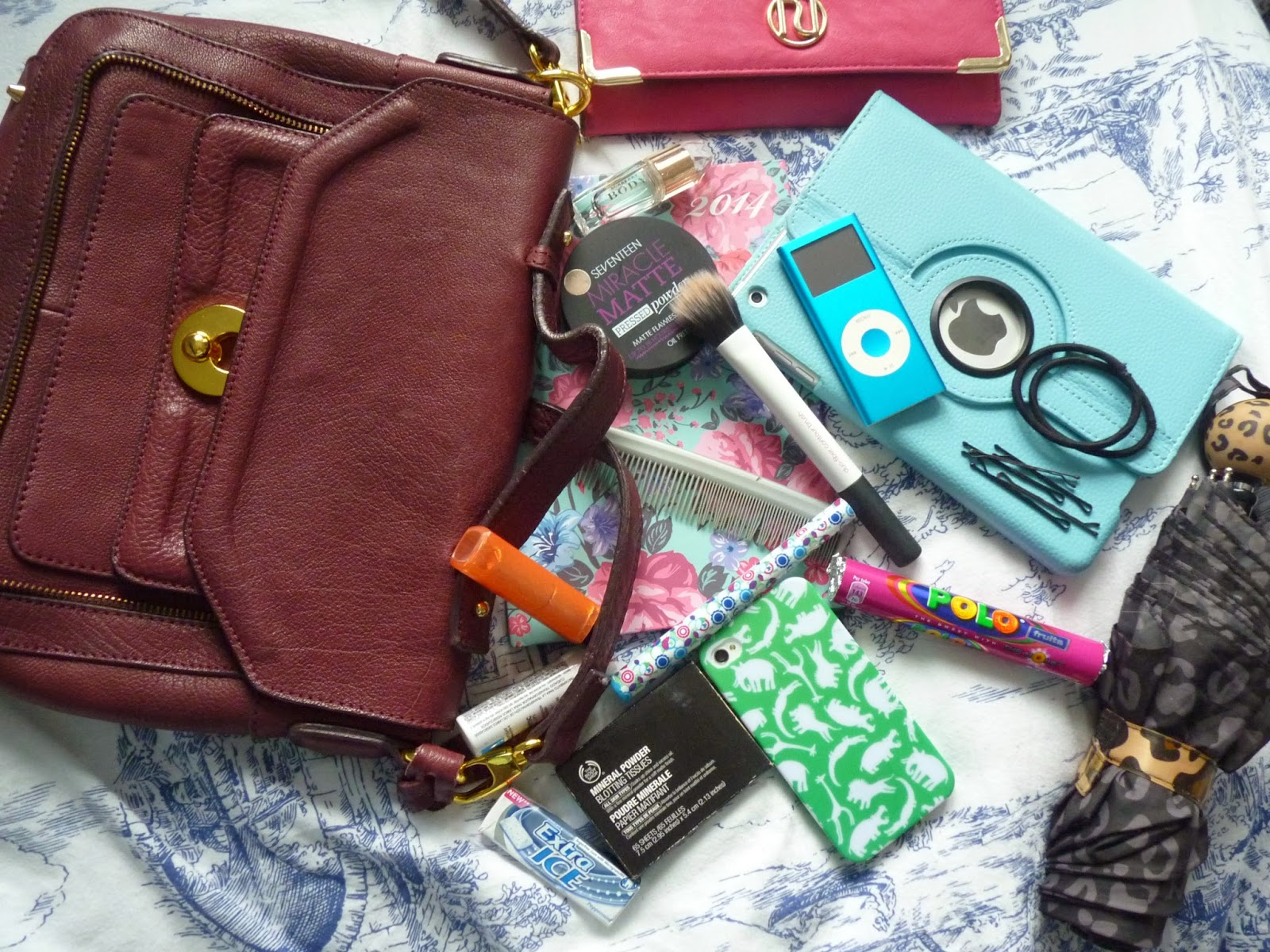 Whats in my bag beauty topshop cross body bag
