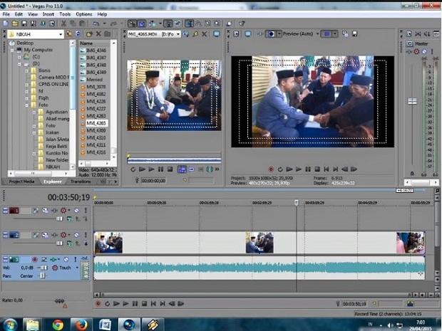 Aplikasi Edit Video PC Sony Vegas Pro 16