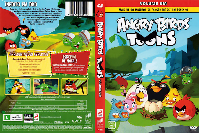 Capa DVD ANGRY BIRDS TOONS VOLUME UM