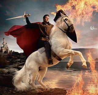 Berlari ku entah kemana..  terombang -ambing dalam derita,,,  bayang-bayang kepahitan terus ikuti..  Namun,,,  seorang pangeran berkuda putih,,  mendekati hati yang remuk ini,,  mengulurkan tangan danmemberikan separuh hatinya,,,  aku dibawa kekerajaannya,,  hilanglah semua kepahitan yang ada,, :)  Karya: Dhey Cnta Islam Slalu  PANGERAN BERKUDA PUTIH