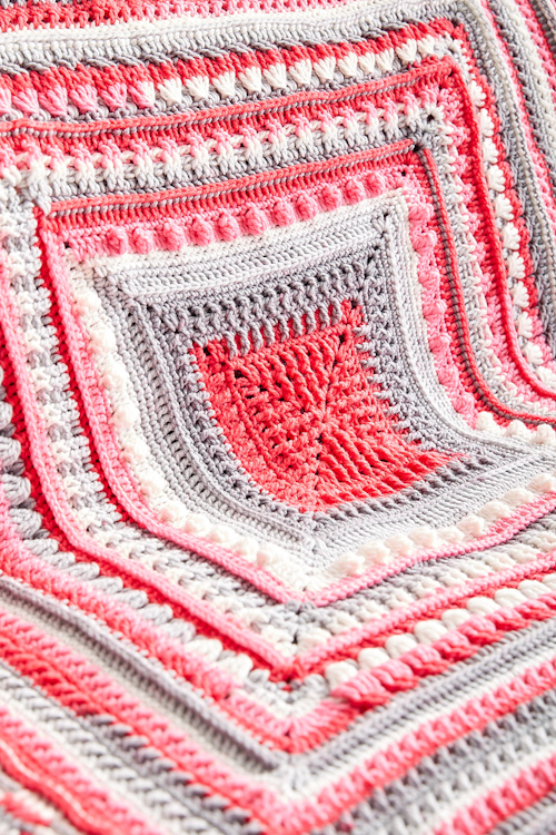 Study of Texture Afghan - Free Pattern