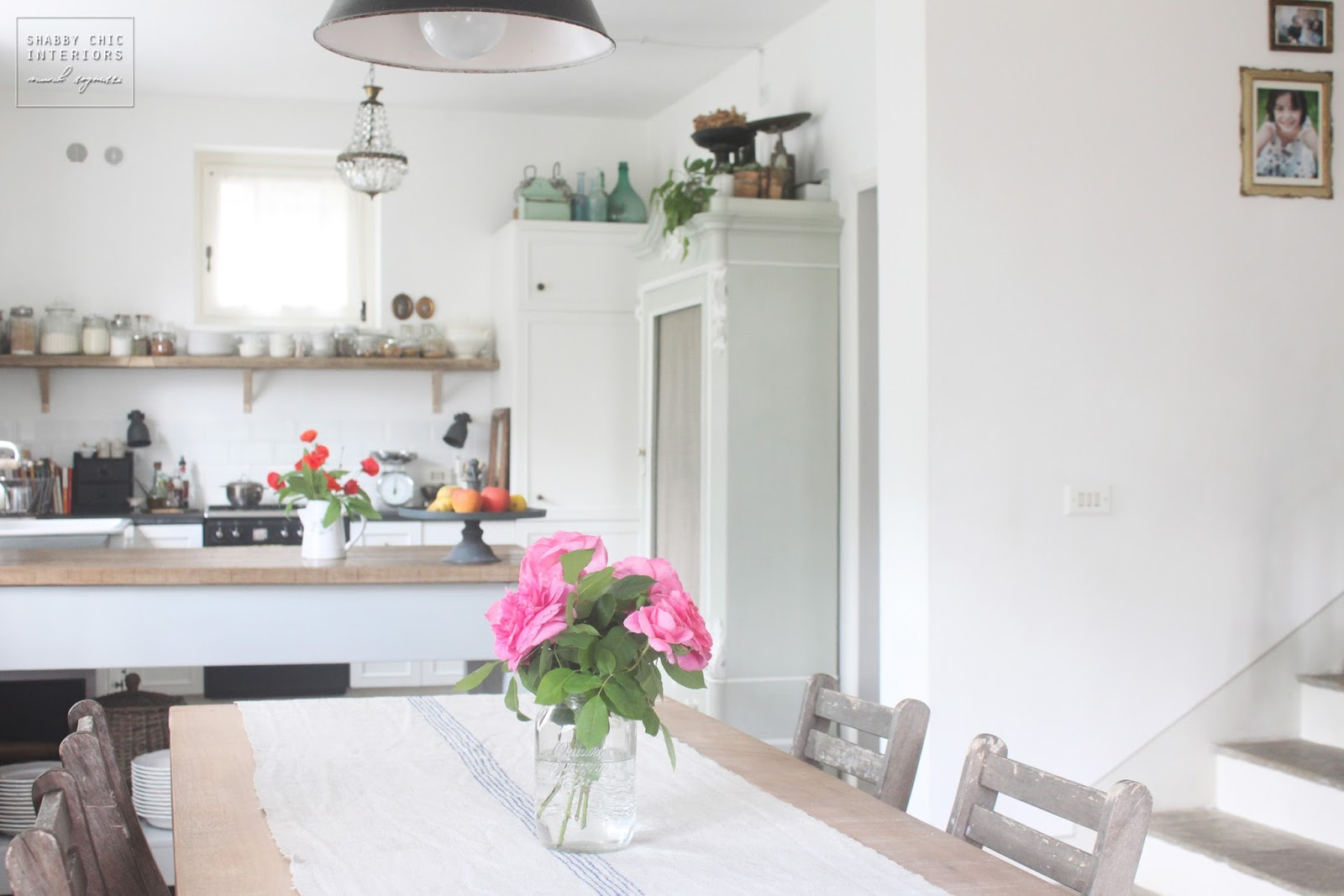 Lampadari cucina shabby lampadario in legno bianco con 6 lumi