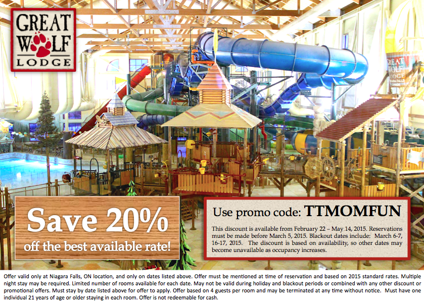 Great Wolf Lodge Niagara Falls Promo Code