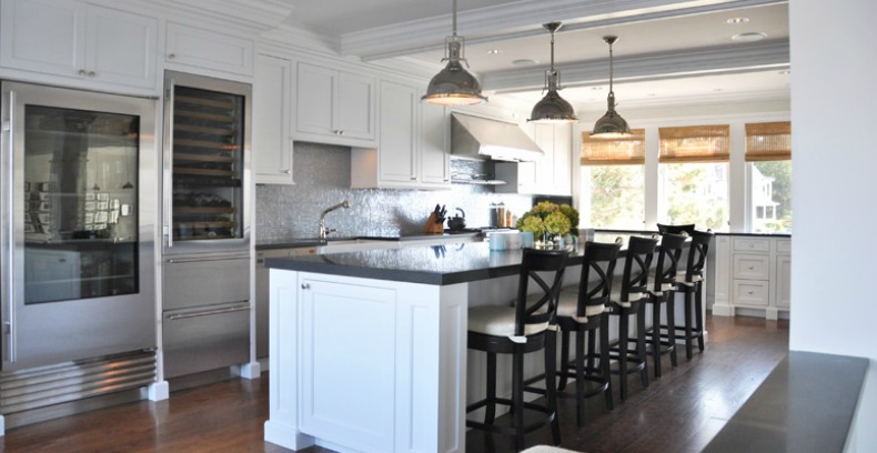 Coastal kitchen with modern convience touches and upgrades