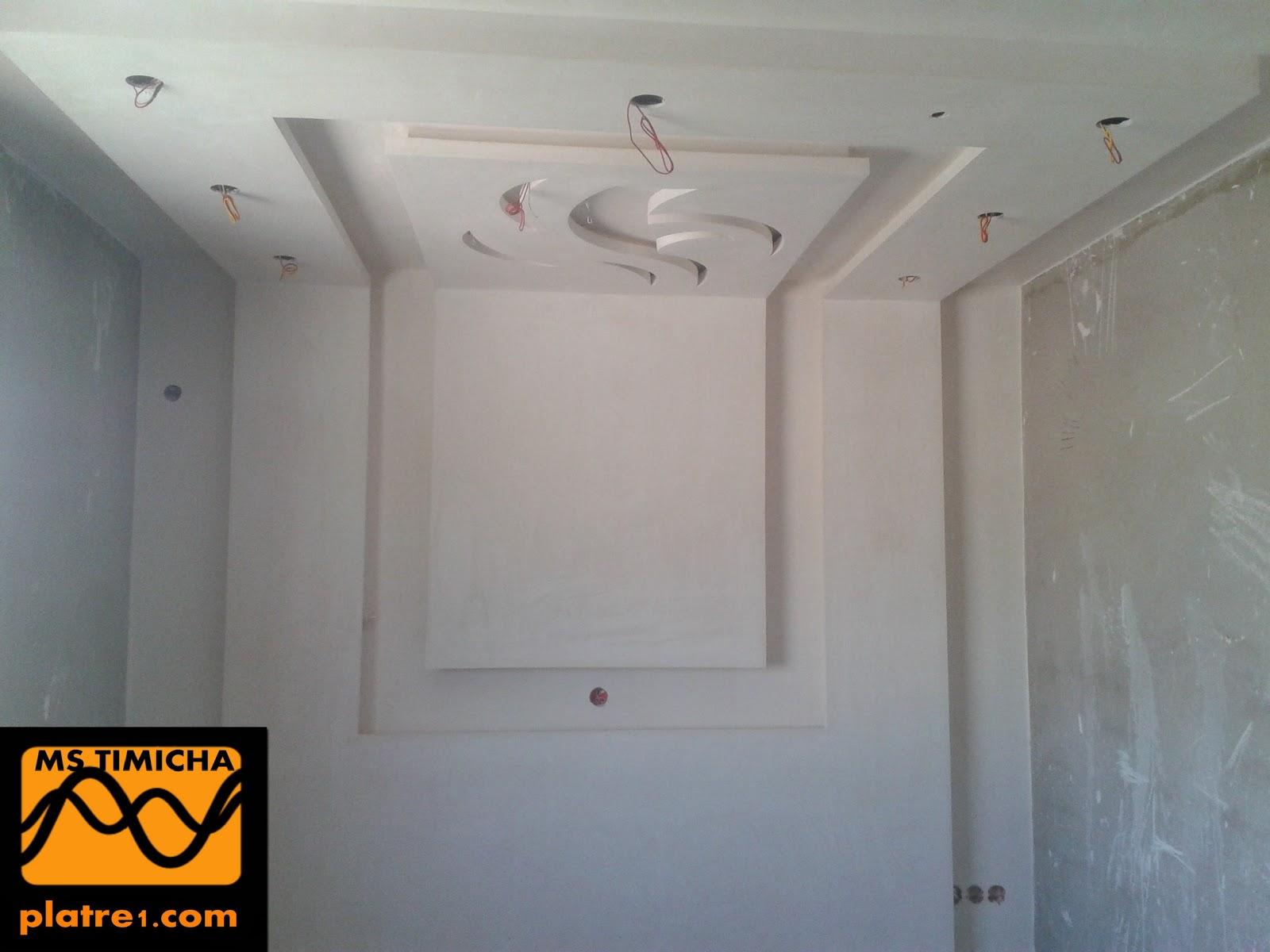 D coration chambre platre for Decoration faux plafond chambre