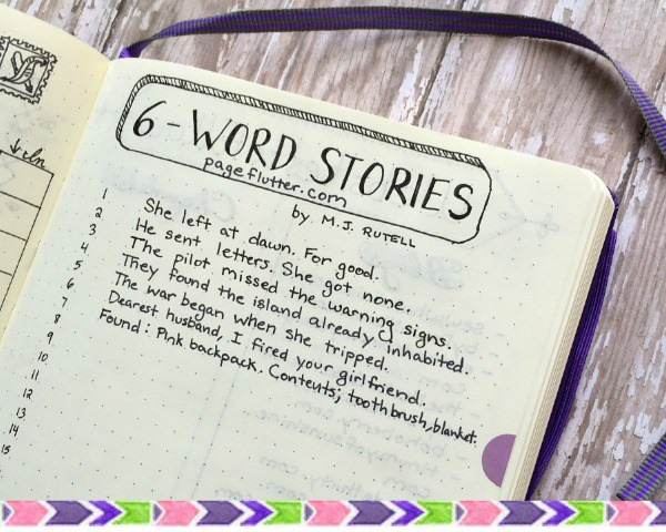 Desafio 6 word story challenge