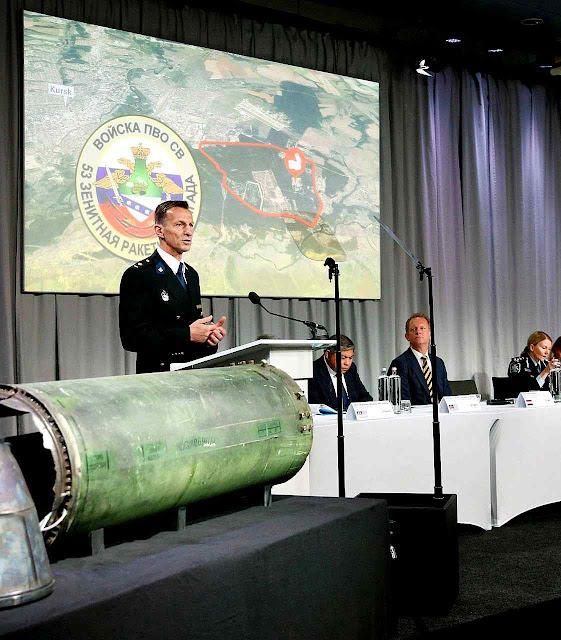 Equipe de Investigação Conjunta apresenta as provas de que a Rússia derrubou o voo MH17 massacrando 298 civis indefesos.