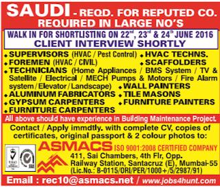 recruitment to Saudi Arabia
