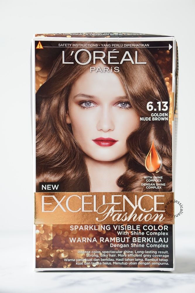 L Oreal Paris Excellence Fashion Hair Color 6 13 Golden Nude Brown Review Bali Beauty Lifestyle Blogger
